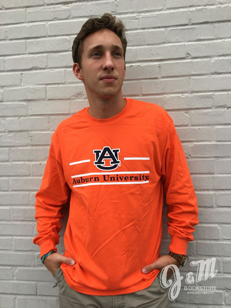 MV Sport AU Three Bar Auburn University Classic Long Sleeve T-Shirt