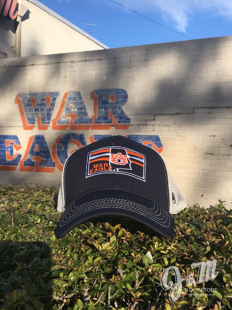 State Outline War Eagle Two Tone Adjustable Mesh Hat