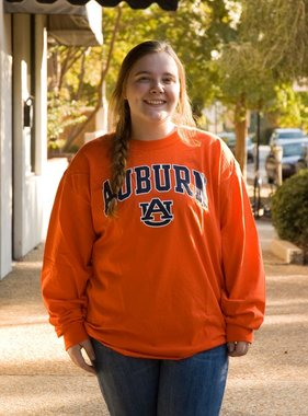 Auburn AU Tigers on Sleeve Long Sleeve T-Shirt