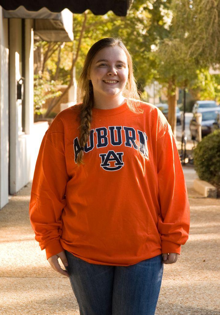 Auburn AU Tigers on Sleeve Long Sleeve T-Shirt