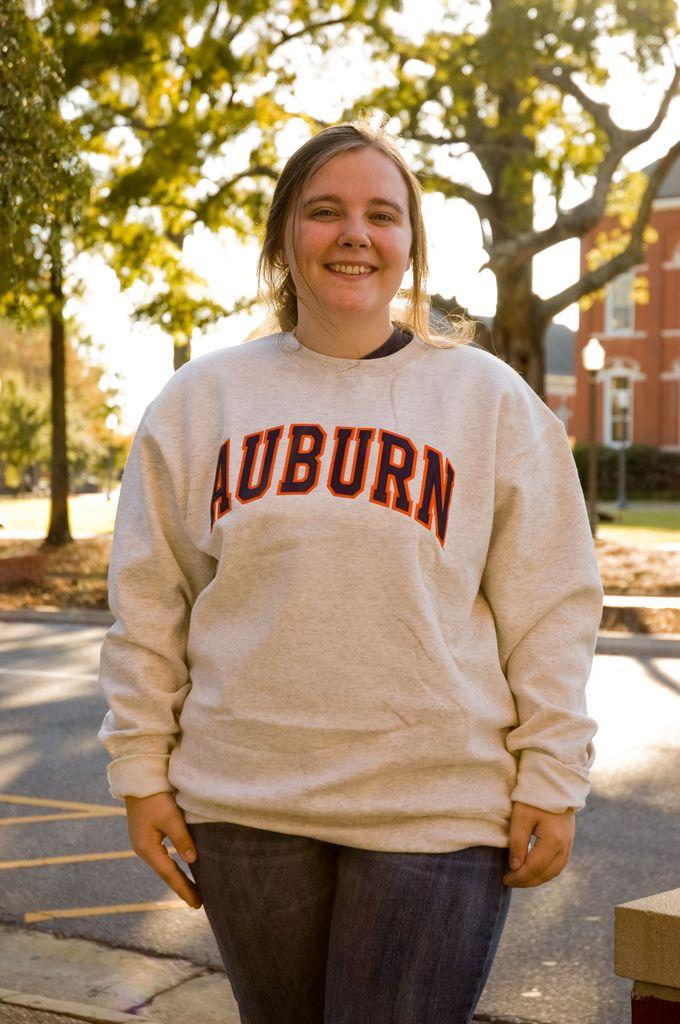 Champion Arch Auburn Embroidered Fleece Crew