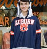 Auburn AU Three Tone Lightweight Hooded Adult Onesie