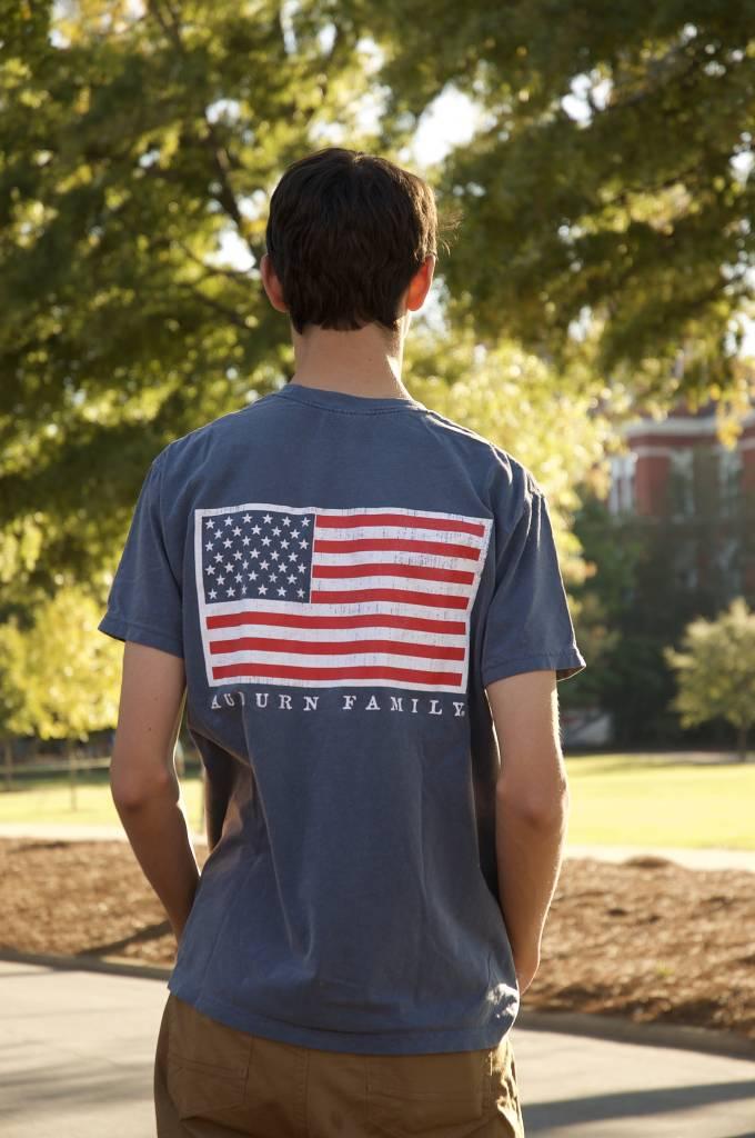 MV Sport Auburn Family American Flag T-Shirt