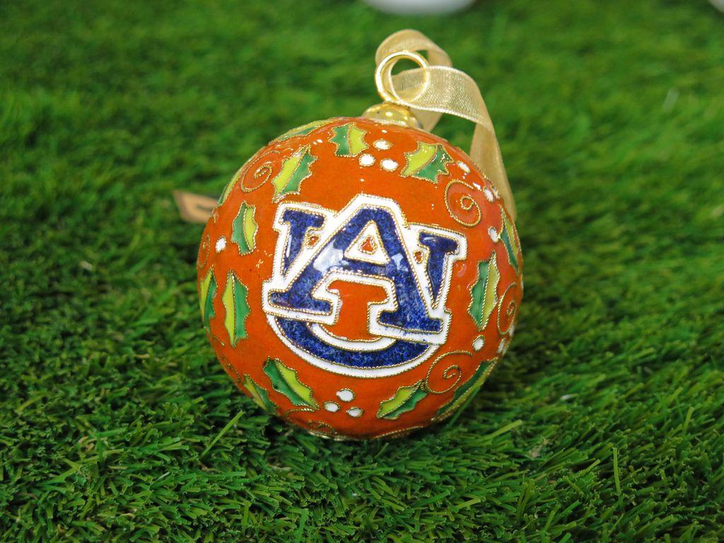 Auburn Merry Christmas with Holly Orange