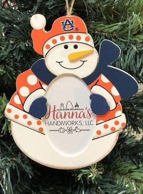 Auburn Snowman Picture Ornament
