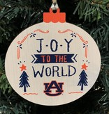 Wood Round Joy to the World Ornament