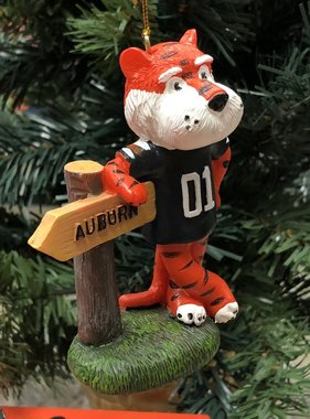 3.5inch Auburn Mascot with Auburn Sign Ornament