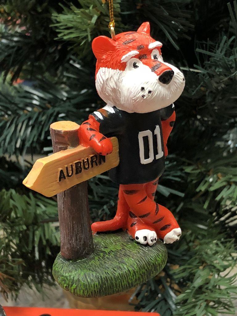 3.5inch Auburn Mascot with Auburn Sign Ornament