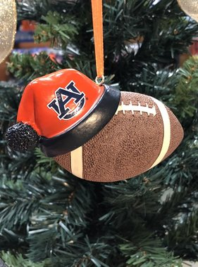 Football With Hat Ornament