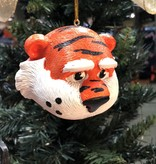 3.5 inch Auburn Mascot Head Ornament