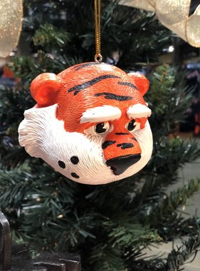 3.5 inch Auburn Mascot Head Ornament