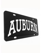 Arch Auburn Silver Letters in Black Background License Plate
