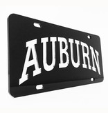 Arch Auburn Silver Letters in Black Background