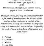 Kristin Daniel Kids Art Class 2019, July 8-12, Art Studies