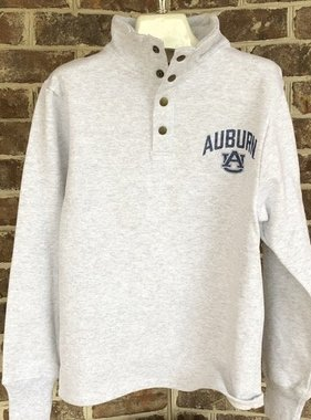 League Vintage Arch Auburn AU Left Chest Snap Up Crew