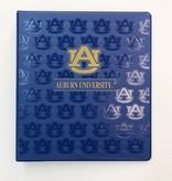 "AU Auburn University Binder, Gold/Blue, 1"""