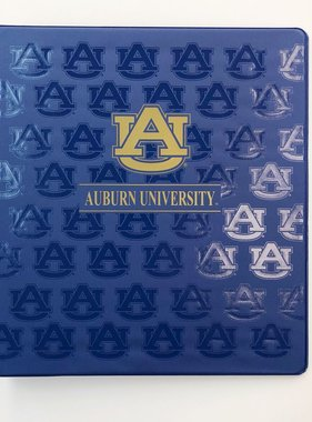 AU Auburn University Binder, Gold/Blue, 1""