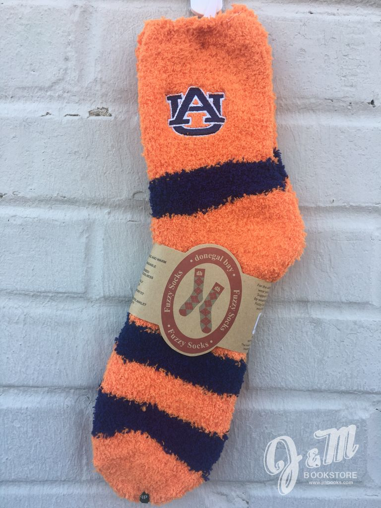 Donegal Bay Auburn Stripe Fuzzy Socks