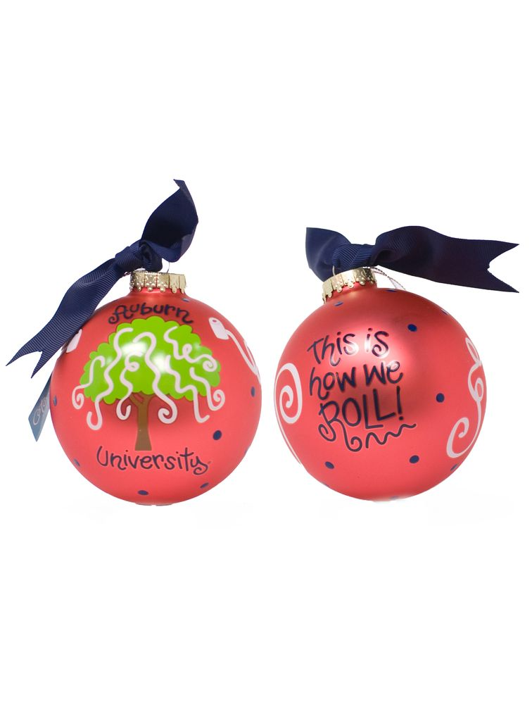 Auburn Toomer Roll Christmas Ornament