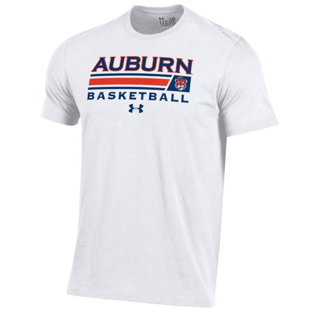 Under Armour Auburn Basketball w/ Accent Bar Aubie T-Shirt