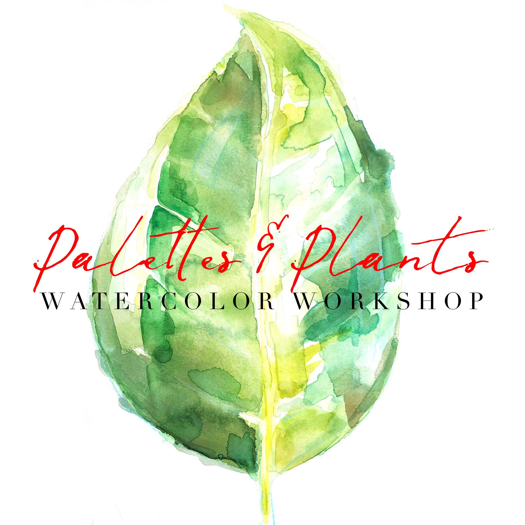 2019 Adult Art Class - Lauren Duncan - June 20th Plants and Paintbrushes