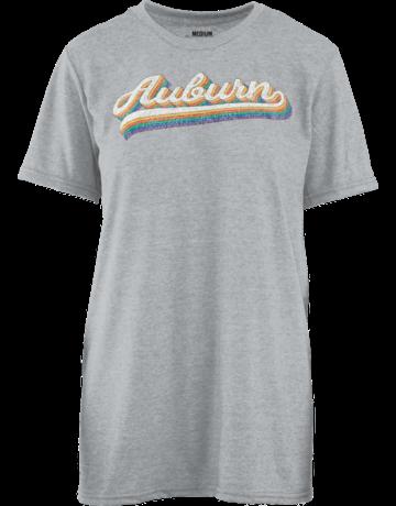Auburn Vintage Rainbow Script T-Shirt