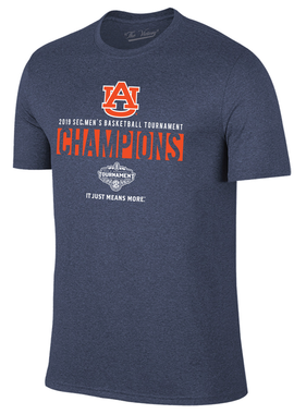 Retro Brand 2019 AU SEC Men's Basketball Tournament Champions T-Shirt