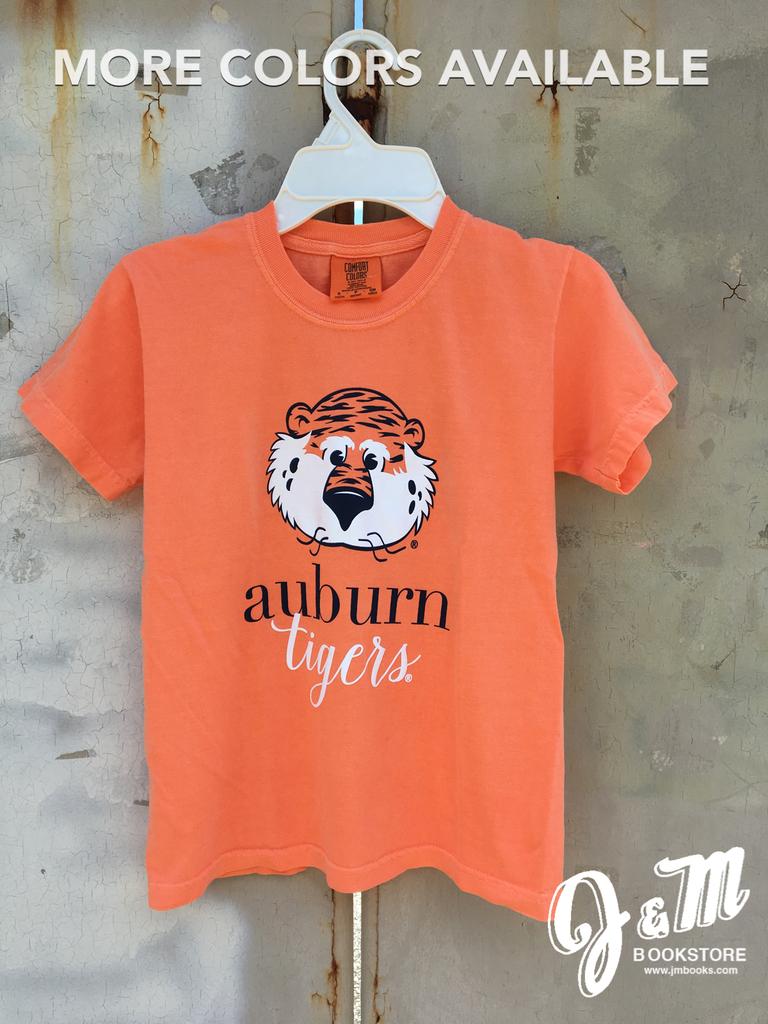 MV Sport Aubie Auburn Script Tigers Youth T-Shirt