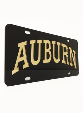 Arch Auburn Gold Letters in Black Background