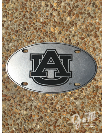 AU Oval Pewter License Plate