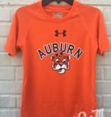 Under Armour Arch Auburn Vintage Aubie Youth Tech T-Shirt