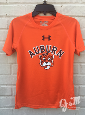 Under Armour Arch Auburn Vintage Aubie Youth Tech T-Shirt