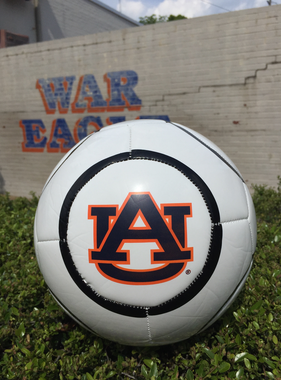 AU White Soccer Ball