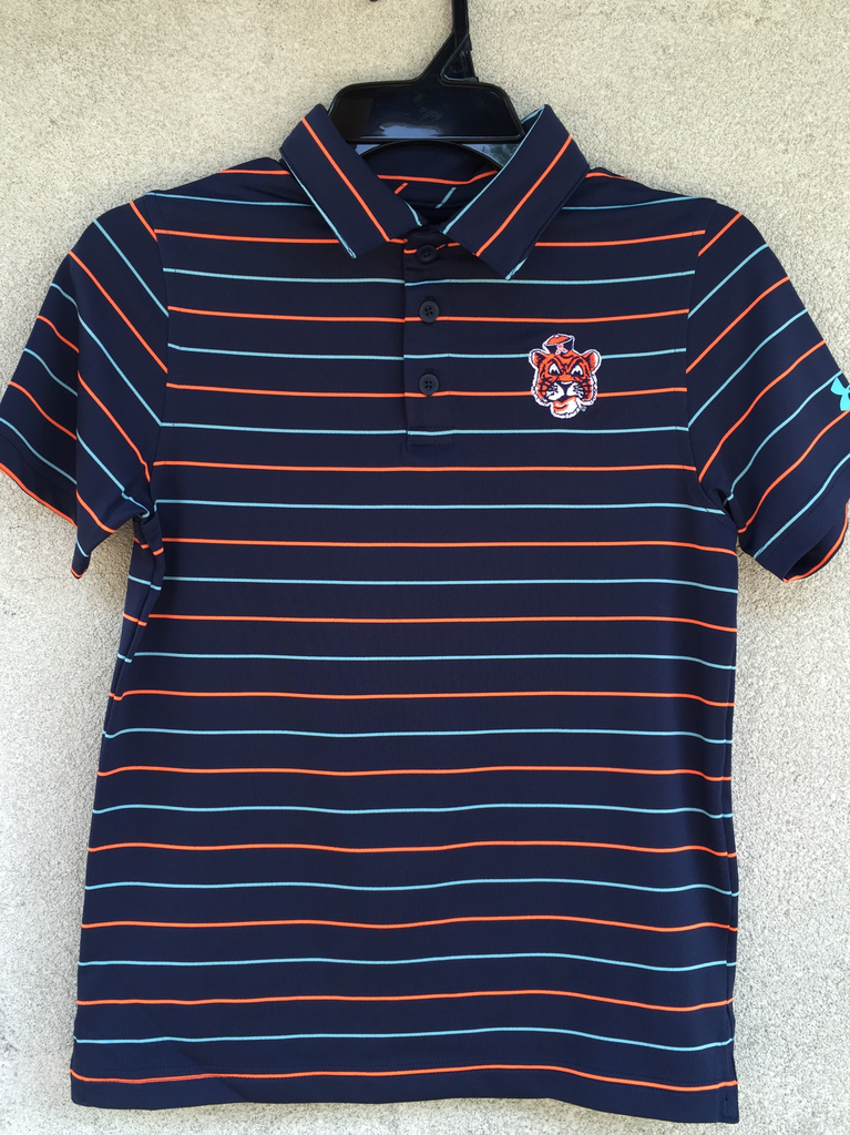 Under Armour Vintage Aubie Performance Stripe Youth Polo