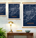 The Local Market Auburn Map 13x19 Color + TwoStick Frame