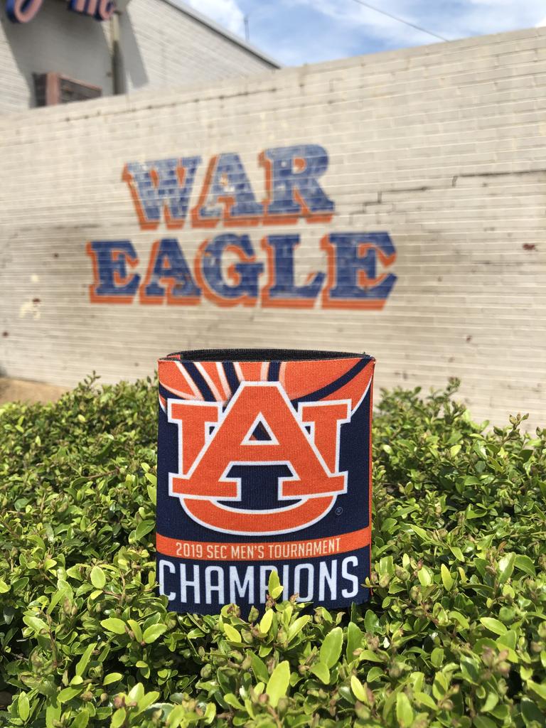 2019 Auburn Men's Basketball SEC Tournament Champions Can Cooler