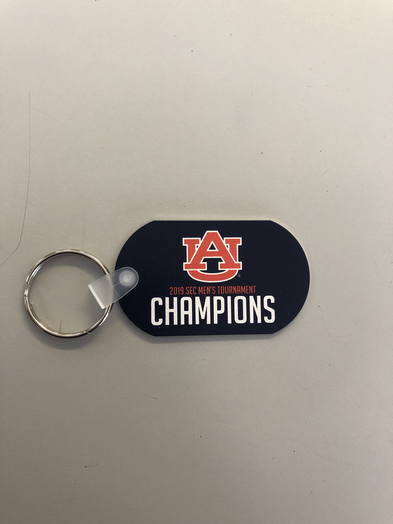 2019 Auburn Men's Basketball SEC Tournament Champions Keyring