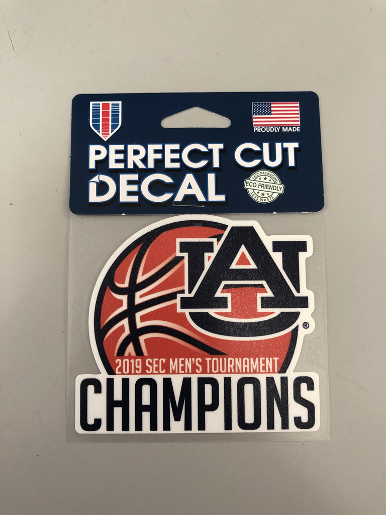2019 Auburn Men's Basketball SEC Tournament Champions Decal
