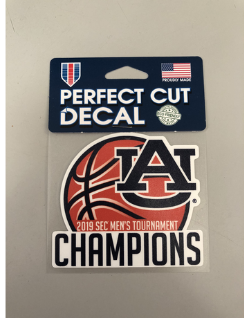 2019 Auburn Men's Basketball SEC Tournament Champions Decal