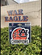 2019 Auburn Men's Basketball SEC Tournament Champions Magnet