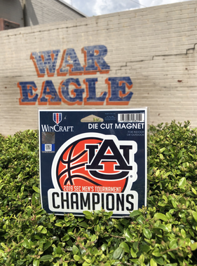 2019 Auburn Men's Basketball SEC Tournament Champions Magnet
