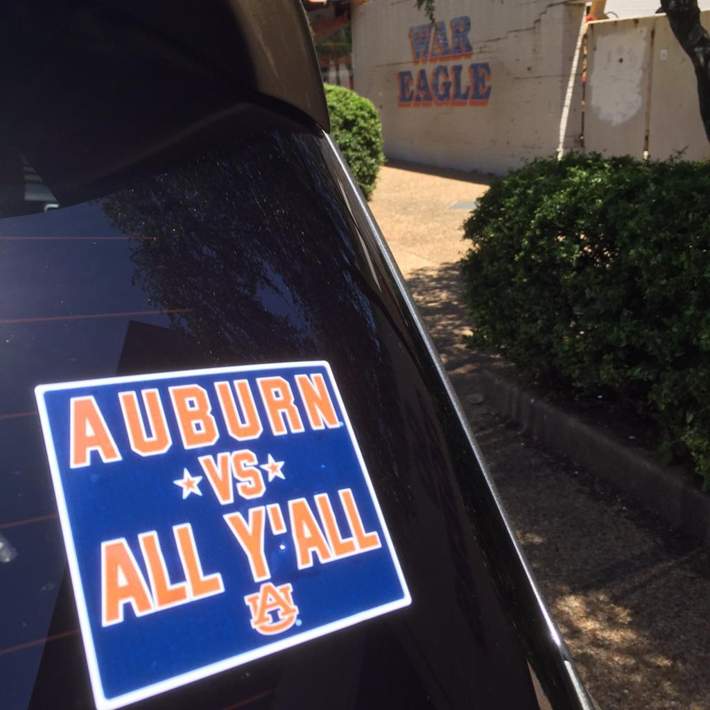 """Auburn Vs All Y'all 4"""" Decal"""
