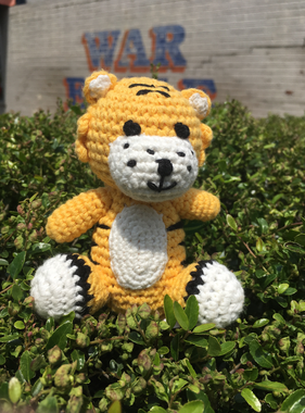 """Renzo 4"""" Tiger with Rattle"""