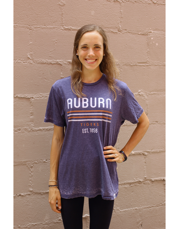 League Auburn Quad Stripe Tigers T-Shirt