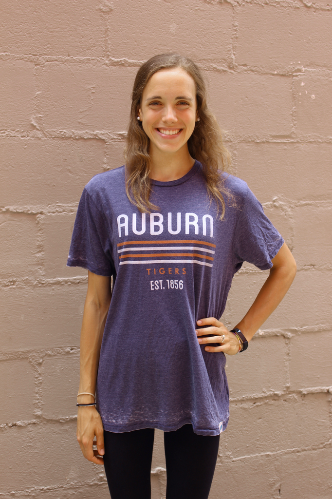 League Auburn Quad Stripe Tigers T-Shirt