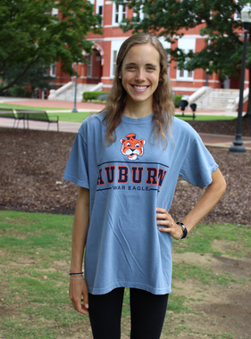 MV Sport Vintage Aubie Auburn War Eagle Double Bar T-Shirt