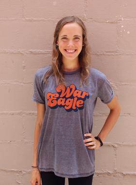 Vintage Script War Eagle Angie T-Shirt