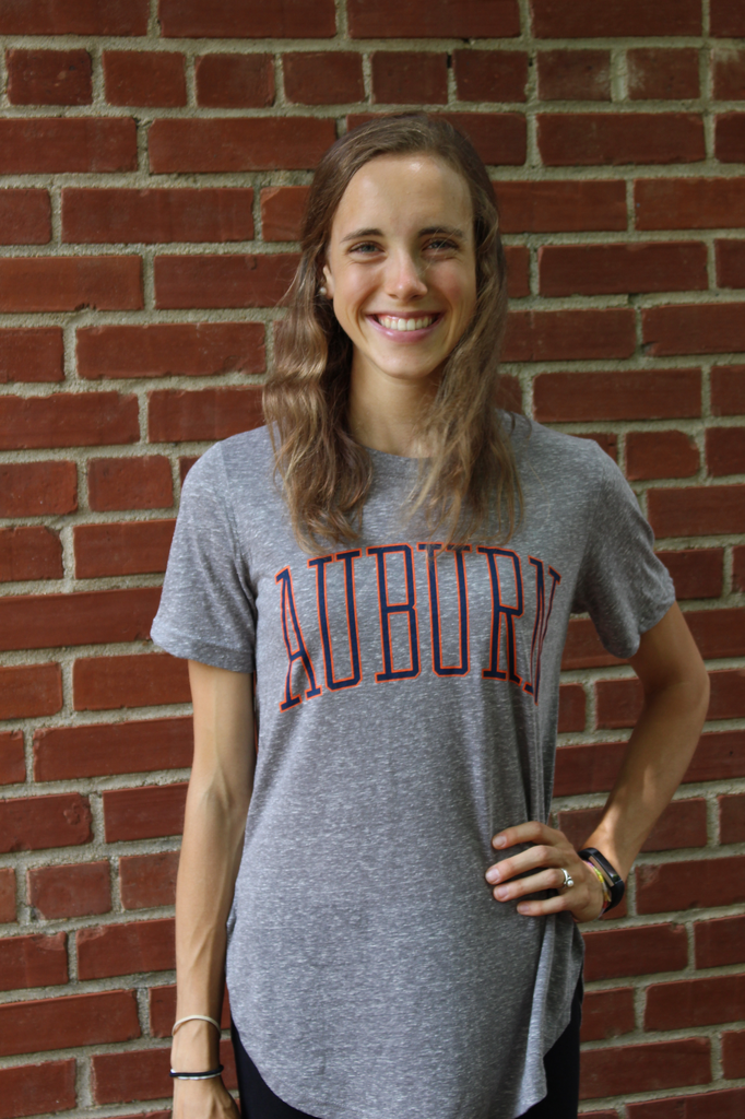 Arch Auburn Bell Lap Rounded-Bottom T-Shirt