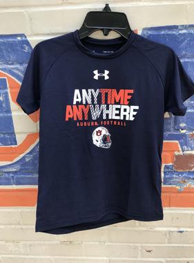 Under Armour Anytime Anywhere Auburn Football Youth T-Shirt