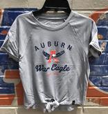 Under Armour F19 Auburn Eagle Thru A War Eagle Girl's Knot T-Shirt
